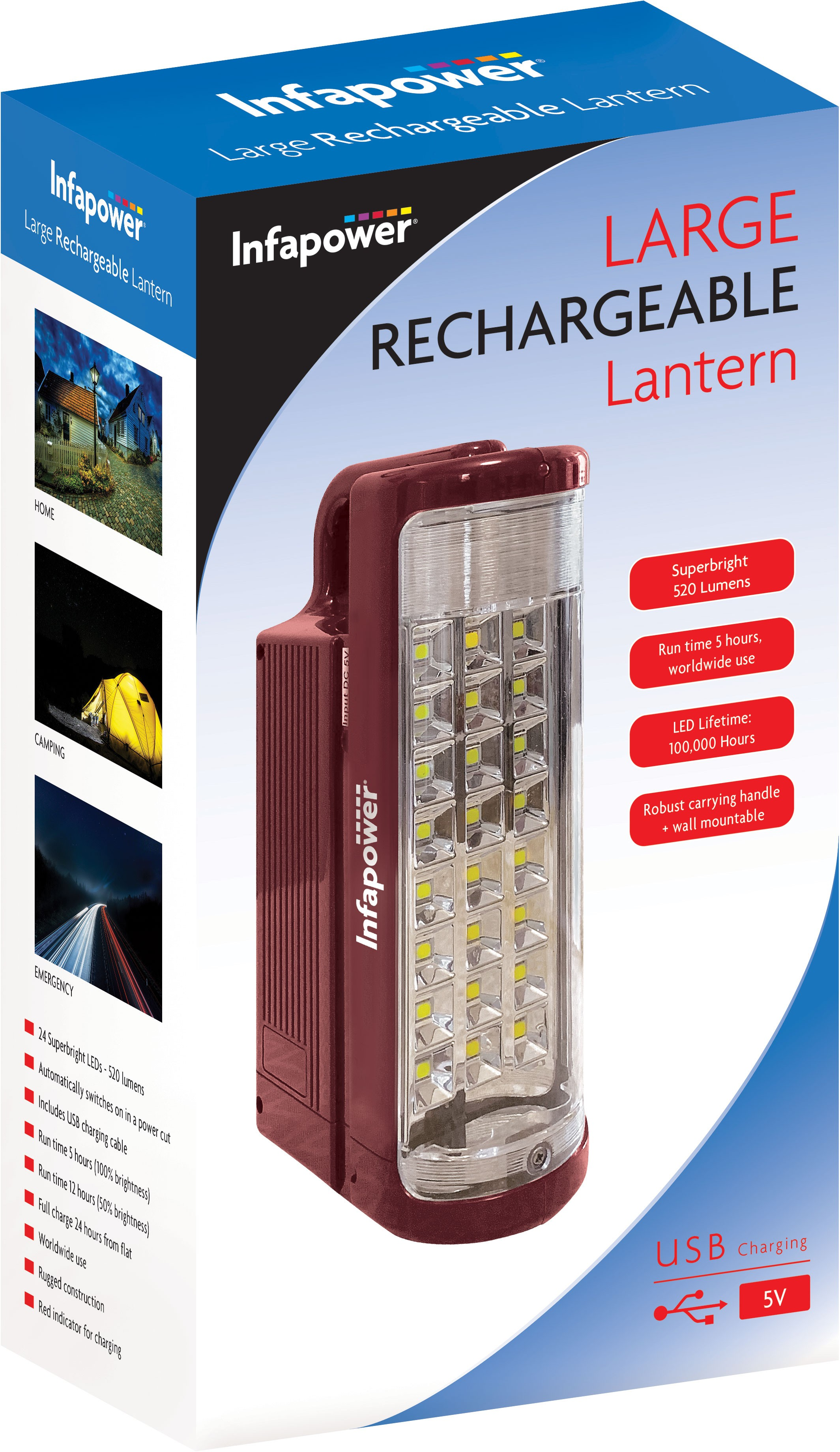 Infapower Large Rechargeable Lantern - F059