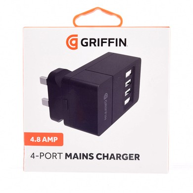 Griffin 4-Port USB Mains Charger 4.8A - GP009