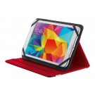 "TRUST PRIMO FOLIO CASE WITH STAND FOR 7-8"" TABLETS - RED #20314"