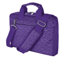 "Trust Bari Carry Bag for 13.3"" Laptops Purple Hearts - 21164 PUR"