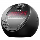 ICES ALARM CLOCK WITH FM RADIO - ICRP212 - BLACK