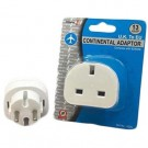 TDS Travel Adaptor 3 pin to 2 pin - UKTOEU